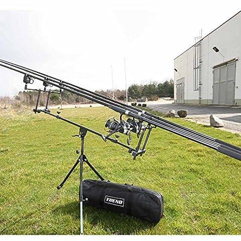 Vf-Angelsport Kit complet pêche à la carpe 3cannes + 3rouleaux