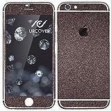 Urcover® Apple iPhone 7 Plus Glitzer-Folie zum Aufkleben | Folie in Schwarz | Zubehör Glitzerhülle Handyskin Diamond Funkeln Schutzfolie Handy-Schutz Luxus Bling Glamourös