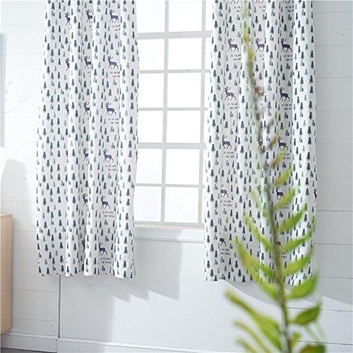 Kong EU - Vorhang mit Ösen, aus Leinen, Baumwolle, 140 x 215 cm, einfarbig, verdunkelnd, für Wohnzimmer / Schlafzimmer, Baumwoll-Leinen, beige, 2 Panels Curtains (Leinen Vorhang-panel-beige)
