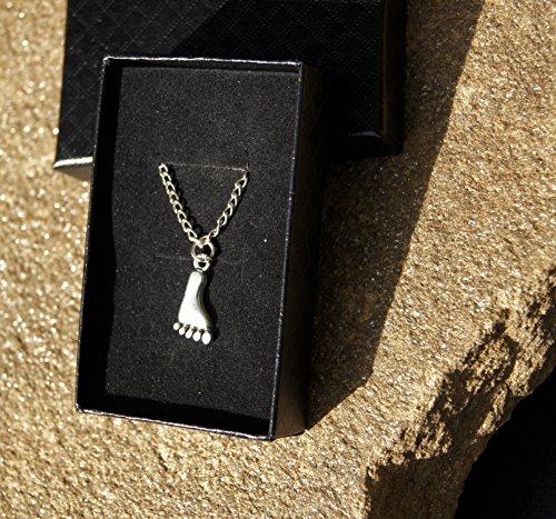 handmade-silver-plated-bare-foot-pendant-on-fine-chain-custom-length-available