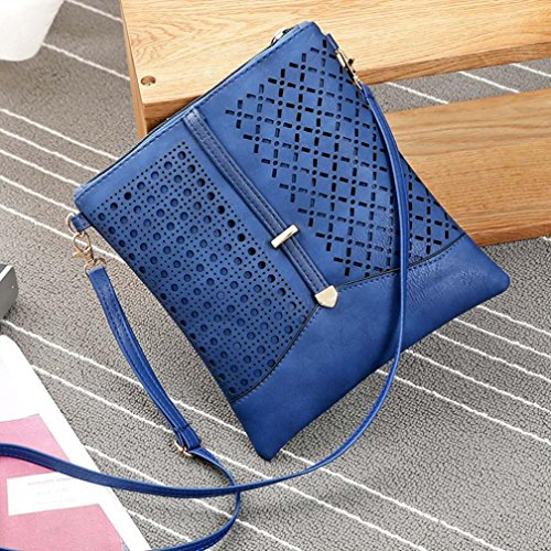 2017 ZARU Frauen Leder Tasche Handtasche Shopper Messenger Crossbody Hobo Schultertasche Blau