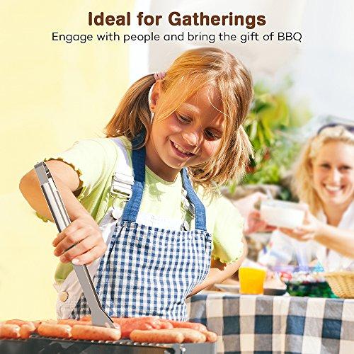 61yBRbWpi1L - Grillbesteck Set TaoTronics Edelstahl Profi 18-teilig BBQ Tools, Garten Barbecue Grill Zubehör mit Wasserfester Lagertasche