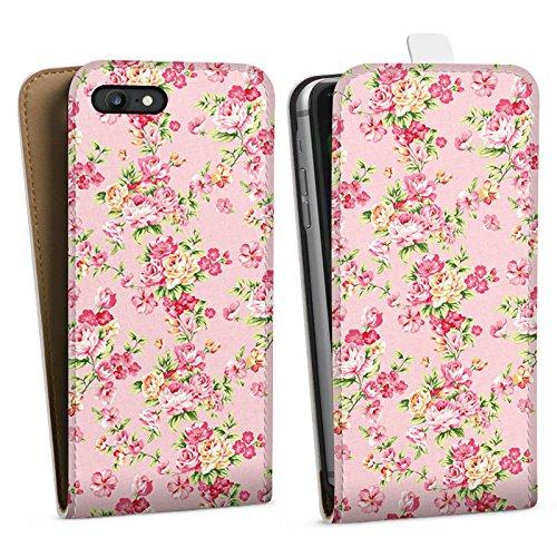 Apple iPhone X Silikon Hülle Case Schutzhülle Rosen Frühling Blumen Downflip Tasche weiß