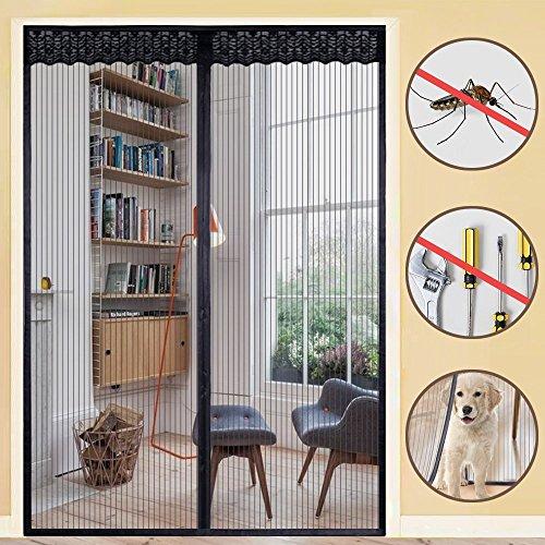 Rabbitgoo zanzariera magnetica per porte finestre d'ingresso/cortili-tiene fuori gli insetti e entra l'aria fresca 160x230cm nero