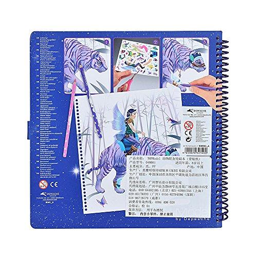 TOPModel 8061 - Create your Fantasy Friend Malbuch mit Rubbelbildern - 3