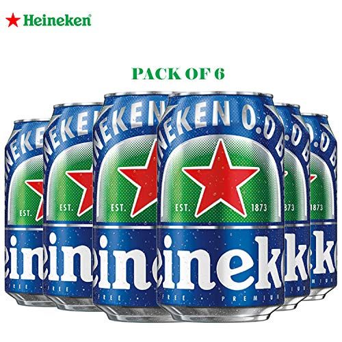 Heineken 0.Non Alcohol Beer - Zero Dot Zero Can - Pack of 6 Jar, 6 x 330 ml