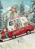 Ghiaccia di Babbo Natale, confezione da 5mini cartoline di Natale di max Hernn