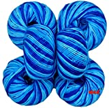 Best Knitting - Vardhman Acrylic Knitting Wool, (Multi Azure) Pack of Review