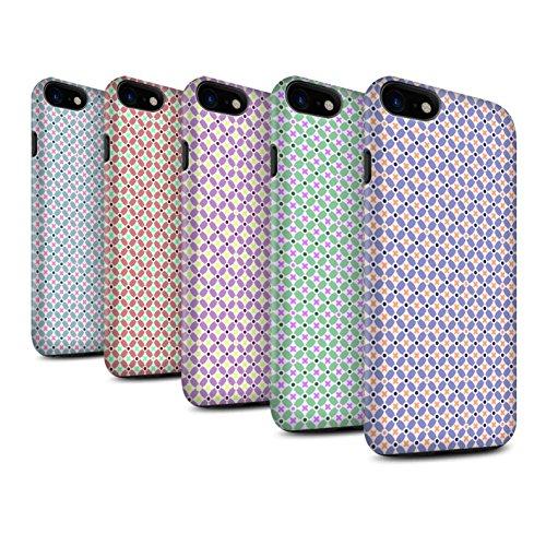 STUFF4 Matte Harten Stoßfest Hülle / Case für Apple iPhone 8 / Violett Muster / Windmühle Kollektion Pack (5 Modelle)