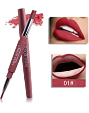 MISS ROSE 2 In 1 Lip Liner Pencil Lipstick Lip Beauty Makeup Waterproof Nude Color Cosmetics Lipliner Pen Lip Stick