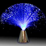 Luz Nocturna de Fibra óptica con Cambio de Color Lámpara de Mesa LED Luz de Humor Batería operada para niños Dormitorio Adult