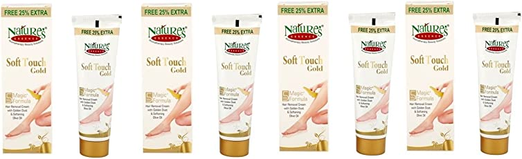 Natures Essence Soft Touch Gold Hair Removal Cream 50 Gram 4Pcs