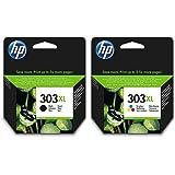 HP 303XL Noir et HP 303XL Tricolore Cartouches d'encre d'origine