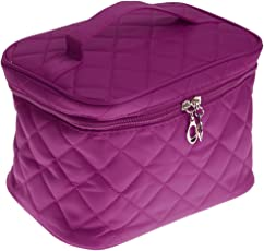 Generic Multifunctional Cosmetic Storage Bags Foldable Travel Outdoor Makeup Bag Pouch - purple