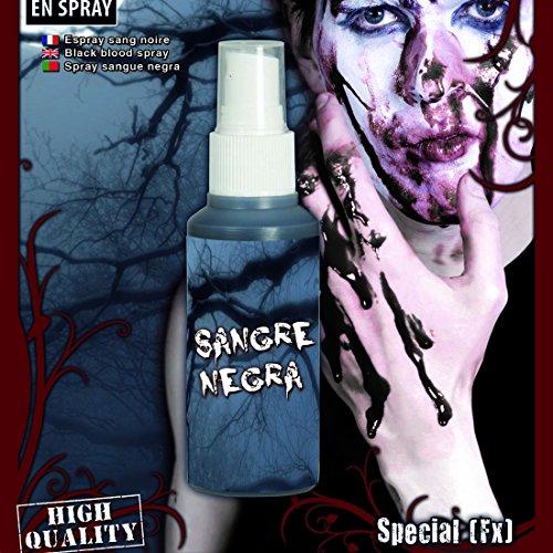 Amakando Blutspray Zombieblut Schwarzes Blut Filmblut Zombie Kunstblut Halloween Horror Makeup Zubehör Hexenblut Spray