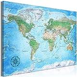 decomonkey | Mega XXXL Bilder Weltkarte | Wandbild Leinwand 165x110 cm Selbstmontage DIY Einteiliger XXL Kunstdruck zum aufhängen | Landkarte Welt