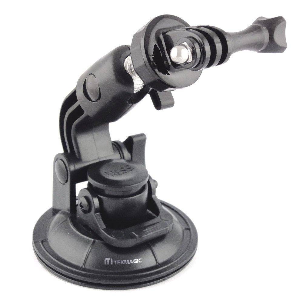TEKMAGIC 9 cm Diametro Ventosa + Acciaio Tema Treppiede Adattatore per GoPro Hero 4 3 + 3 2 1