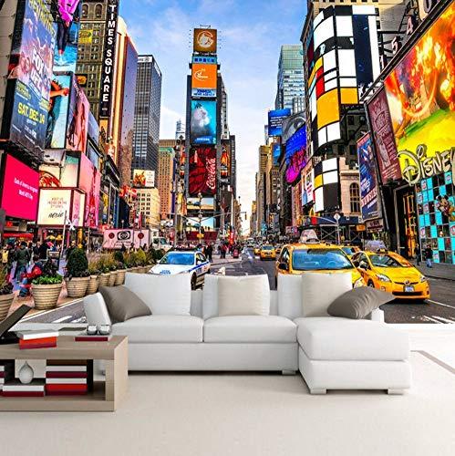 3D fototapete Benutzerdefinierte Fototapete Times Square New York Moderne Street View Shop Bar Schlafzimmer Wohnzimmer Thema Tapete Stereo 500X280 CM