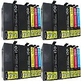 20 XL Druckerpatronen Ersatz für Epson WF 3620 3640 7620 7610 7110 8 x schwarz 4 x blau 4 x rot 4 x gelb