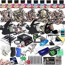dragonhawk Upgrade Juego completo Kit de Tatuaje 9máquinas Estados Unidos marca inmortal tintas fuente de alimentación CE Reino Unido enchufe Agujas Grips Consejos upg-9