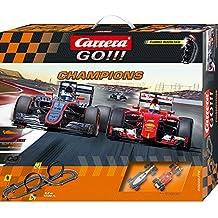 Carrera 'Go' Champions (McLaren Alonso + Ferrari Vettel) 5.3 m, escala 1:43 (20062378)