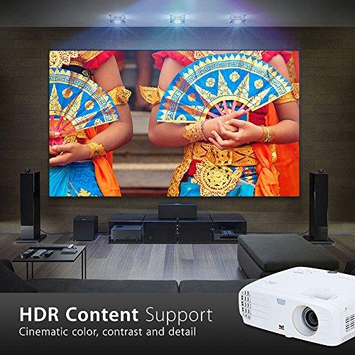 Viewsonic PX727-4K UHD Heimkino DLP Projektor (4K, 2.200 ANSI Lumen, 2x HDMI, 10 Watt Lautsprecher, 1.2x optischer Zoom, RGBRGB Farbrad, HDR) Weiß