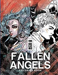 Fallen Angels Coloring Book for Adult: Angels, Broken Wings, Feathers, Angels on Earth, Fantasy, Whimsical, Stress Relieving Coloring Book for Adult