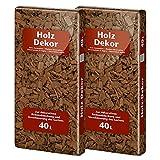 Floragard Mulch Universal Holzdekor braun 2x40 L • Rindenmulch • in brauner Färbung • zum Abdecken • dekorativer Bodenbelag • unterdrückt Unkrautwuchs • 80 L