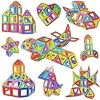Numeo Building Blocks Set, 76 PCS Mini Magnetic Tiles DIY Creative STEM Building Block Preschool Educational Construction Kit 3D Magnetic Toys For Boys Girls Kids Toddlers Children