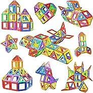 Numeo Building Blocks Set, 76 PCS Mini Magnetic Tiles DIY Creative STEM Building Block Preschool Educational C