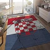 Paco Home In- & Outdoor Terrassen Teppich Kroatische Flagge Moderne Beton Optik, Grösse:160x220 cm