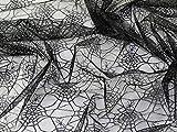 Spinnennetz Netz Stoff, Meterware, Schwarz