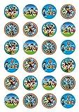 24x Paw Patrol Celebration Essbare Papier Cupcake Topper Kuchen Dekorationen