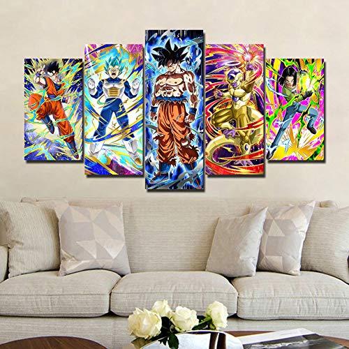 QJXX CuadrosEnLienzo Dragon Ball Z Imagen Impresa