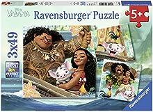 Vaiana - Puzzles, 3 x 49 piezas (Ravensburger 80045)