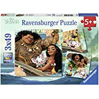 Ravensburger 08004 - Lot de 3 Puzzles Vaiana - 49 pièces