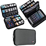 Universale Double Layer attrezzatura da viaggio Organiser / Custodia da viaggio universale per dispositivi elettronici e accessori (M, Grigio)