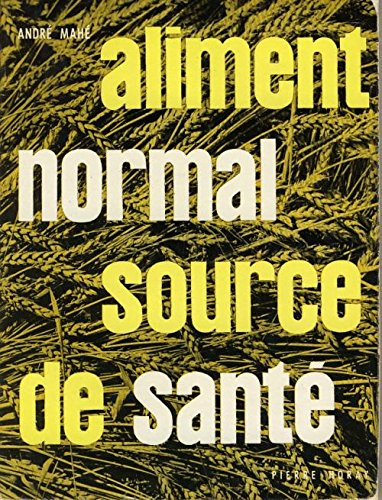 Portada del libro Aliment normal source de santé