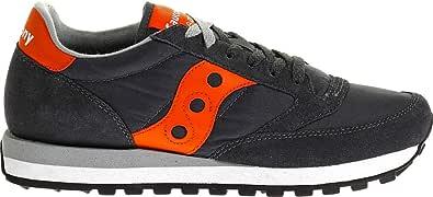 Saucony Scarpe da Uomo Sneakers Jazz in camoscio Grigio e Arancione S2044-319
