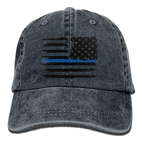 8c30f5630d4d7 Pillowcase Wholesale Unisex Adult American Flag Thin Blue Line Grunge Aged  Distressed Cotton Denim Baseball Cap
