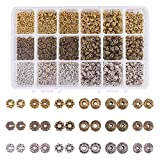 Pandahall Elite – Set di 900 pcs perline espacees Perle divisore perline distanziatori in lega di zinco per la fabbricazione di gioielli, colore melangee, 5.5 ~ 6.5 x 2 ~ 7.5 mm, Foro: 1 ~ 2 mm, Lega, Couleur Melangee, 5.5~6.5x2~7.5mm
