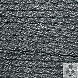 Textilkabel Baumwolle Schwarz / Weiss , 3-adrig verseilt