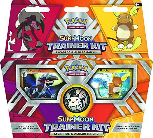 Pokémon 290-80210 Sun and Moon Trainer Kit-Lycanroc & Alolan Raichu-Englisch