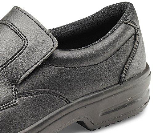 Mikrofaser Slip auf Sicherheit Schuhe Schwarz–b-click Schuhe Schwarz