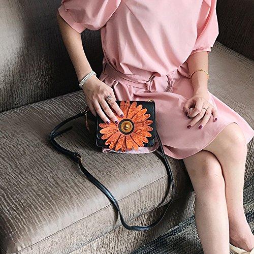 Sacchetto obliquo del sacchetto di spalla della borsa rotonda del piccolo sacchetto quadrato del mini girasole ( Colore : Arancia ) Arancia