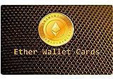 5er Pack Ethereum Paper Wallet Card Geschenkkarte Plastikkarte Cold Storage ETH