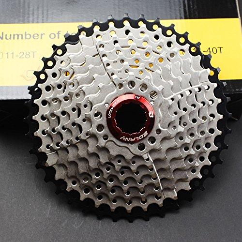 FOMTOR 9-fach Kassette 11-40 Kassette für Mountainbike Rennrad MTB SRAM Shimano 9 Fach Umwerfer