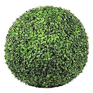 Maison futée - Boule de buis artificielle 40cm - Vert foncé