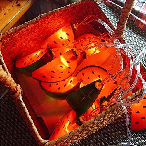 Lichterkette, Ziemlich Bunte LED Lichterketten Wassermelone Lampe Dekoration für Weihnachten Halloween Festivals Kinderzimmer Party Pool Strand 3m 20 licht