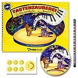 TASTENZAUBEREI - mit CD + Piano-Bleistift + 7 lustige Smiley-Sticker - Klavierschule Band 1 von Aniko Drabon - der zauberhafter Einstieg ins Klavierspiel! [Spiralbuchbindung / Musiknoten]